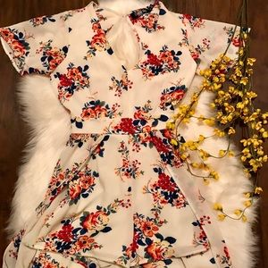 The floral shorts romper